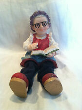 Collectible Resin Elderly Lady reading book Figure