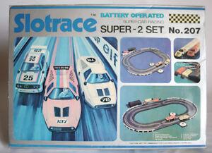 RARE VINTAGE 80'S SLOT RACE MAGNETIC 2 CAR 207 SET BENZ C111 HONG KONG NEW MIB !