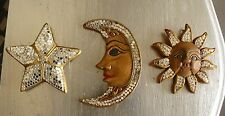 tris sole luna stella thai in legno cm 12/12/15 etnico
