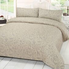 Cream Floral Design Duvet Quilt Cover Bedding Set With Two Pillowcases King Size