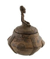 Vaso A Unguenti Magici Bronzo Dogon Del Mali -urna-arte Africano -aa 1130