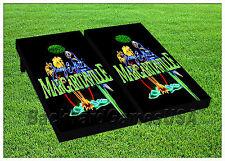Jimmy Buffet Margaritaville CORNHOLE BEANBAG TOSS GAME w Bags Game Board Set 591