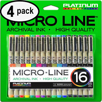 Premium Micro-Line Ultra Fine Point Archival Ink Pens - (SET OF 16)  - 4 PACK