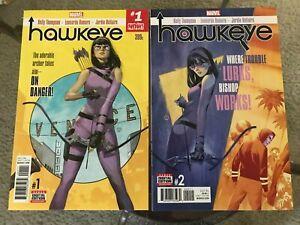 Hawkeye #1 & #2 Kate Bishop 1ST Ramone Watts NM-/NM