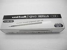 12pcs UNI-BALL UMR-10 1.0mm for 153 roller ball pen only refill Black(Japan)