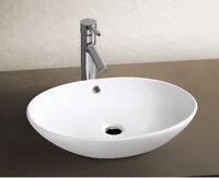 Aufsatz Keramik Waschbecken Rund Park 2.0 Brillant Weiß 63cm Handwaschbecken Bad