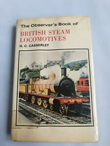 1st Edition The Observer's Book Of British Steam Locomotives with dust jacket