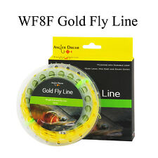 8WT Floating Gpld Fly Line Double Color Weight Forward Fly Fishing Line & loop