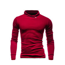 Solid Color Long Sleeve Stand Collar Sweatshirt - Red