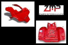 NEW HONDA TRX250R PLASTIC FIGHTING RED VENTED RACE FRONT AND REAR FENDER SET