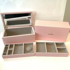 Pandora Leather Two Tier Pink Medium Size Jewellery Box