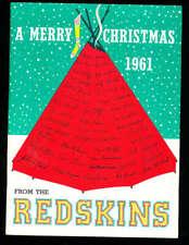 December 13, 1961 Dallas Cowboys vs Washington Redskins football program