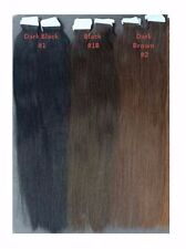 Colour 1 -  Full Head 40pieces Tape Hair Extension - 26inches - 5A Quality
