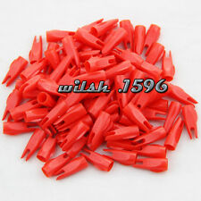 50pcs Red 11/32 Arrow Nock For OD9mm Wooden and Bamboo Arrow Outdoor Archery