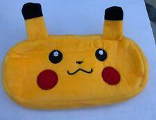 Pikachu pencil case plush kids yellow school soft case