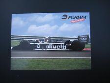 Autogrammkarte Brabham BMW Turbo von Derek Warwick und Riccardo Patrese