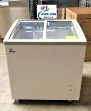 "NEW 31"" Ice Cream Glass Dipping Freezer Chest Showcase Display Commercial NSF"