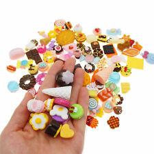 Random 100 pcs (approx.) Resin Desserts Sweets Food Cabochons DIY Crafts Decors