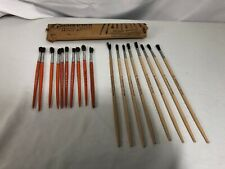 Vintage Lot Grumbacher Artist Brushes And Delta Paint Brushes Original Packaging