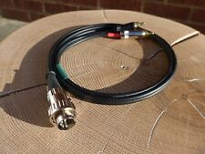 5 Pin Din To RCA/Phono HEADPHONE Amplifier Cable Interconnect For Naim 2m