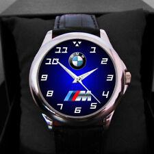 New Men's Elegant Wrist Watch Leather BMW F30 E30 M3 M POWER LOGO Sport Watch