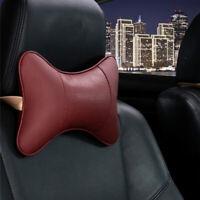os le cuir siège appuie - tête retenue tête - cou reste oreiller un coussin.