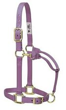 "Weaver Leather Original 1"" Horse Adjustable Throat Snap Nylon Lavender Halter"