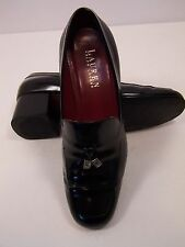 """Lauren by Ralph Lauren Style """"Gladys"""" Loaffers with heel and tassels.. In Black"""