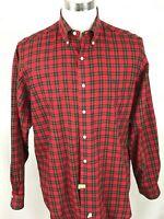 Ralph Lauren Men's Red/ Black Check Shirt Long Sleeve Size Large