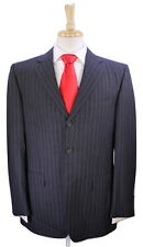 * ALFRED DUNHILL * by Zegna Black w/ Light Purple Pinstripe 120's Wool Suit 40R