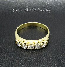18ct Gold 18K Gold 5 Stone Diamond Ring Size P 1/2 3.7g 0.5 carats