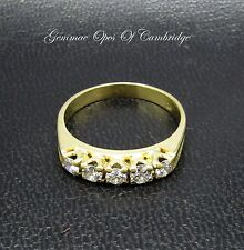 18ct Gold 5 Stone Diamond Ring Size P 1/2 3.7g