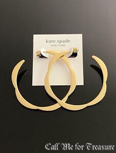 Kate Spade large hoop earrings NWT