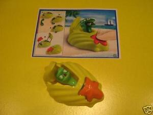 NV262 Clam Yellow + Bpz Kinder Merendero Joy Italy 2009 Sea Animals