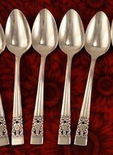 Set of 4 Teaspoons Vintage CORONATION Oneida Community Tea Spoons 1936 Art Deco