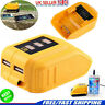 UK 12V/20V USB CHARGING BATTERY ADAPTER For DEWALT DCB090 POWER Source Charger