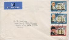 Barbuda- 1974 Overprinted Antigua Ship Definitives Air Mail Cover to Wisconsin
