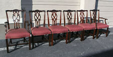 6 KINDEL Chippendale Mahogany Dining Chairs