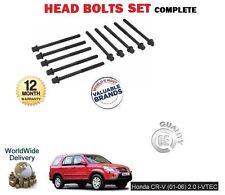 FOR HONDA CRV 2.0 VTEC K20A4 150BHP 2001-> NEW ENGINE HEAD BOLTS SET COMPLETE