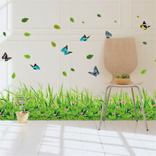 Green Grass Line B Room Home Decor Removable Wall Stickers Decals Decoration