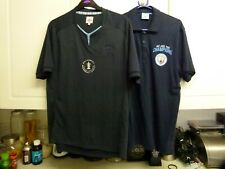 2 OFFICIAL MANCHESTER CITY TOPS WE ARE CHAMPIONS & 2011 FA CUP WINNER NAVY BLUE