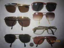 Mix Lot of 7 Gold Metal Aviator Sun/Eyeglasses Pilots Men Women Vintage Big Wide