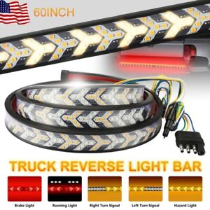 "60"" inch 528-LED Truck Strip Tailgate Turn Signal Brake Tail Reverse Light Bar"