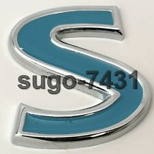 Car S Blue Metal Alloy Logo Emblem Badge Decal Vehicle Sticker Gift For Him