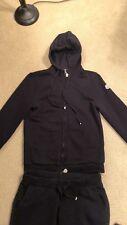 Athletic Moncler Women's 2pc Black Tracksuit Sweatsuit Jacket Pants Size S