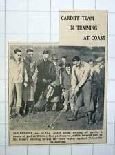 1939 Whitley Bay Golf Course Cardiff Team Training Mccaughey