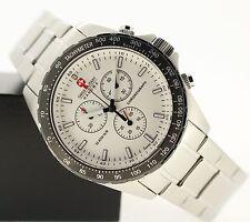 Armbanduhren aus Edelstahl mit Tachymeter und poliertem Finish für Herren