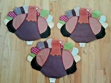 POTTERY BARN KIDS PBK THANKSGIVING TURKEY PLACEMATS LOT OF 3 PRE-OWNED