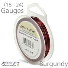 Burgundy Tarnish Resistant Artistic Wire - Red Wire (18-24 GA)