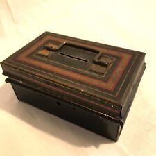 Vintage Metal Cash Tin Small Bunch Of Keys